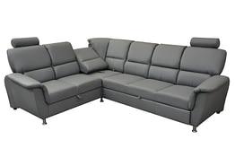 san diego left corner sofa bed grey PU (2) - Copy