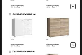 Chest of Drawers 50 100 150