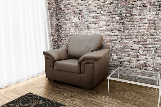 Amy armchair brown PU cov
