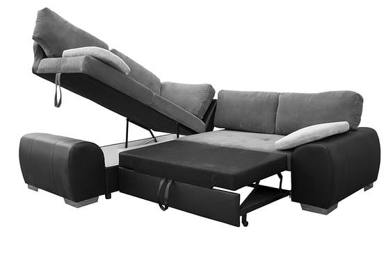 Enzo 1cr2 left corner sofa bed bl-grey FAB cov-brick (1)