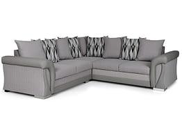 vigo corner sofa bed scatterback grey-grey (axelle)